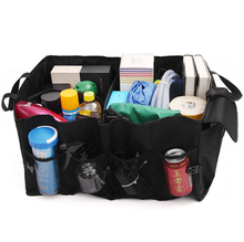Car Black Trunk Storage Bags Box Auto Accessories Organizer Black Trunk Collapsible Toys Food Stowing Tidying car trunk storage bag trunk organizer box toy food pocket container protector vehicle stowing tidying auto accessories