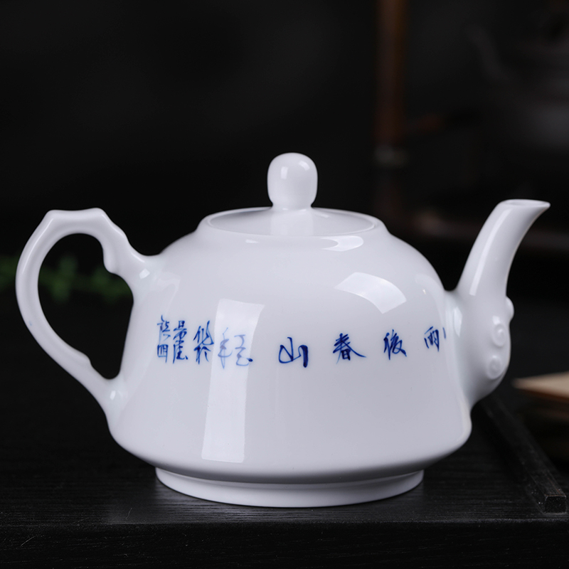 400ml Jingdezhen Large Capacity Ceramic Teapot Handmade Blue and White Porcelain Tea Pot Kung Fu Tea Set Puer Teaware Kettle - 5