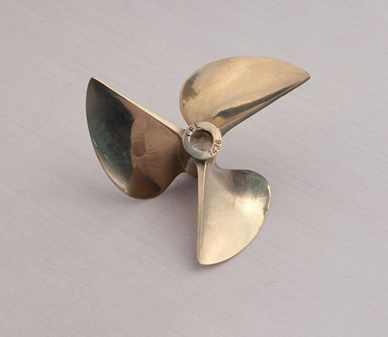 1PC 6.35MM Copper Propeller Three-blade Propellers High-quality 3 Blades Paddle for RC Gasoline Boat O-Racing Yacht Model