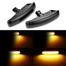 Luz de seta dinâmica led 2 peças, luz sequencial blinker para land rover discovery 3 4 freeland2 rover sport
