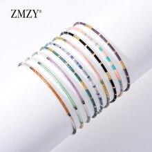 ZMZY Мини стеклянные хрустальные бусины богемные браслеты для женщин Miyuki Delica Pulseira Feminina Lover модные ювелирные изделия