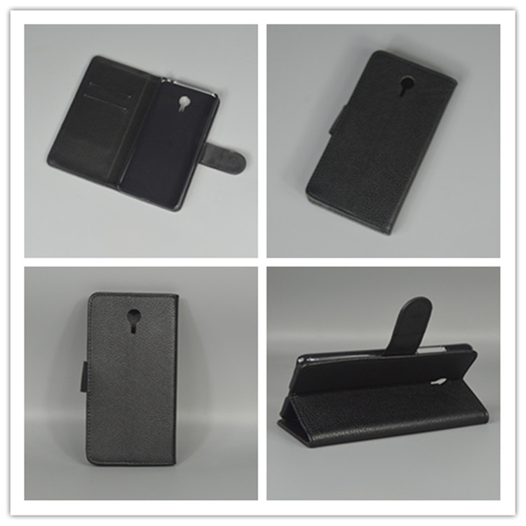 e84d77473 Para meizu m3 note meizu meilan note 3 Litchi cubierta de cuero de lujo  función para con 2 tarjetas y ranura de bolsa