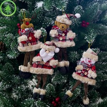 Emerra New Christmas Decoration Doll Santa Claus Cloth Doll Pendant Christmas Tree Plush Toy Pendant
