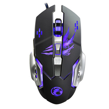 Hot Sale 6 Button 3200 DPI USB Wired Mechanical Gaming Mouse Mice 4 LED Backlit Optical Professional Game Mouse Mice for PC เมาส์