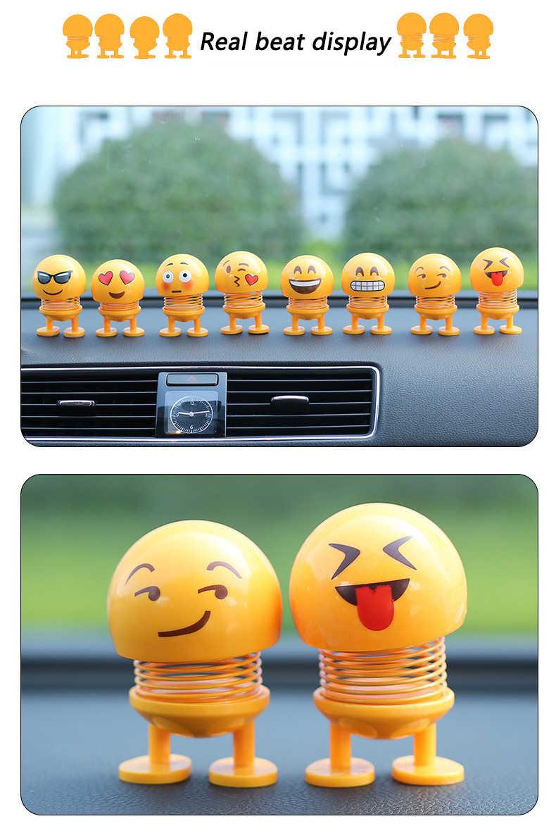 Menjatuhkan Kapal Mobil Ornamen Gemetar Kepala Mainan Untuk Mobil Dashboard Dekorasi Gambar Kartun Lucu Emoji Mainan