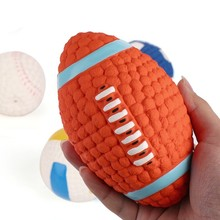 Dog Interactive Toy Environmental Protection Latex Balls Squeak Toys Interesting Tennis Football Tooth Cleaning