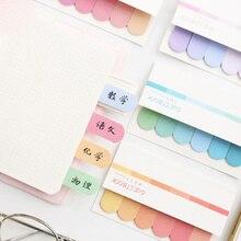 Index Sticker Kawaii Stationery Korean Cartoon Memo-Pad Cute No Novelty Creativity
