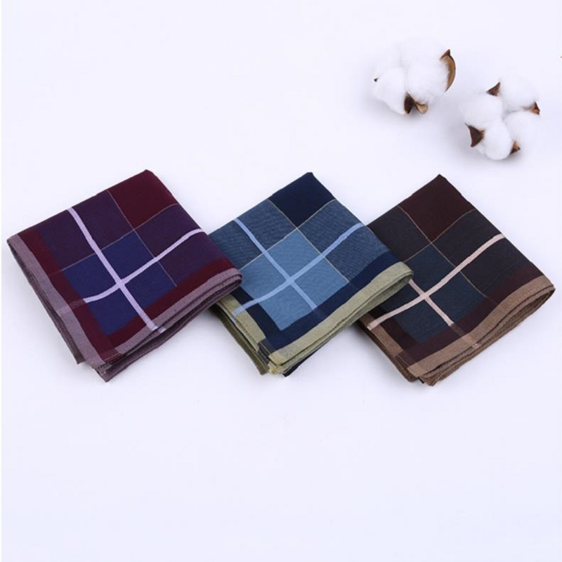 Men 43cm Combed Cotton Handkerchief Cotton Quality Soft Handkerchief