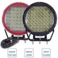 CREE 8 225W LED Driving Work Light 12V 24V Offroad Headlight Car ATV SUV Yacht Boat