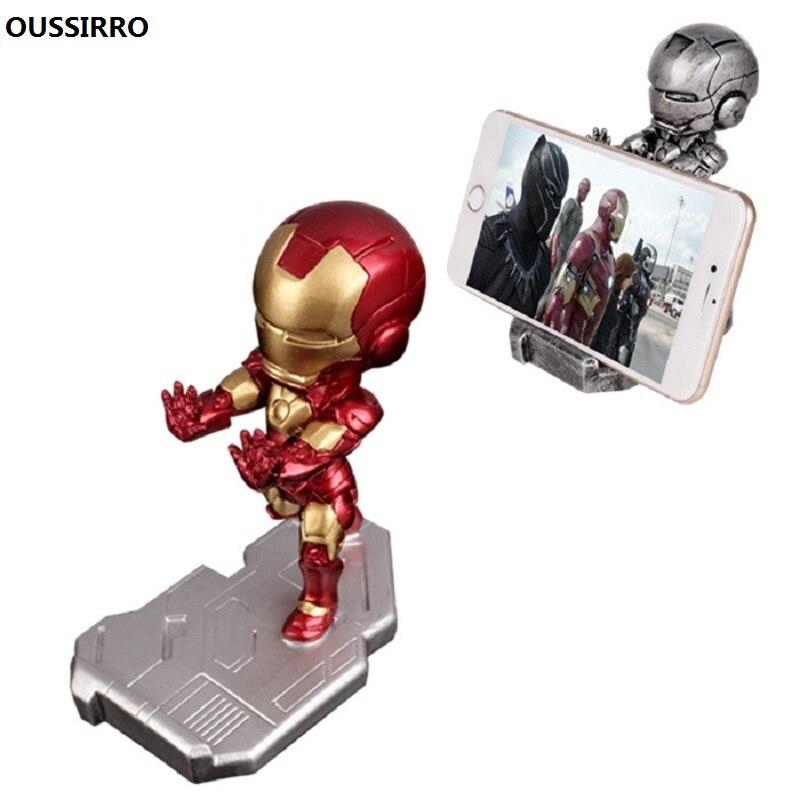 OUSSIRRO Iron Avenger Man Super Hero Mobile Phone Holder for Mini Desk Stand for Lovely Phone Stand Holder