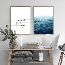 Nordic Seascape Canvas Paintings Inspiring Posters Fashion Flower Prints Art Wall Pictures for Living Room Home Decor Unframed