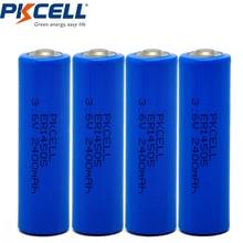 4 шт. батареи PKCELL 3,6 V ER14505 14505 2400mah AA LiSCLO2 превосходное LR6 R6P 1,5 V батареи для gps трек-камера