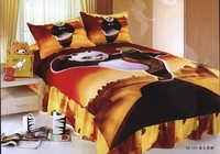 Kung Fu Panda Printed Bedding Single Twin Size Bed Duvet Covers Set Bedclothes Childrens Boys Bedroom