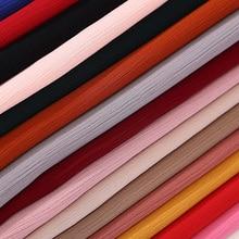 High quality Crinkle chiffon hijab scarf shawls Ladies muslim fashion plain