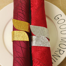 6PCS Acrylic 8-shaped napkin circle wedding feast family party hotel accessories beggar s feast