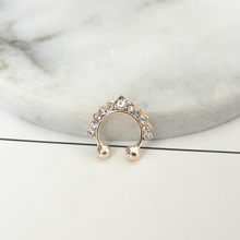 New Fashion New Fashion Titanium Crystal Fake Nose Ring Septum Nose Hoop Ring Piercing Body Jewelry Drop Shipping(China)