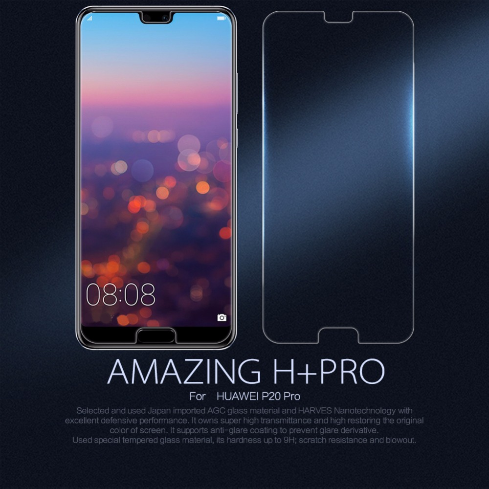 Protector de pantalla Nillkin película de vidrio para Huawei P20 Pro P20 Lite Honor 8 vidrio H + PRO 2.5D 9 H