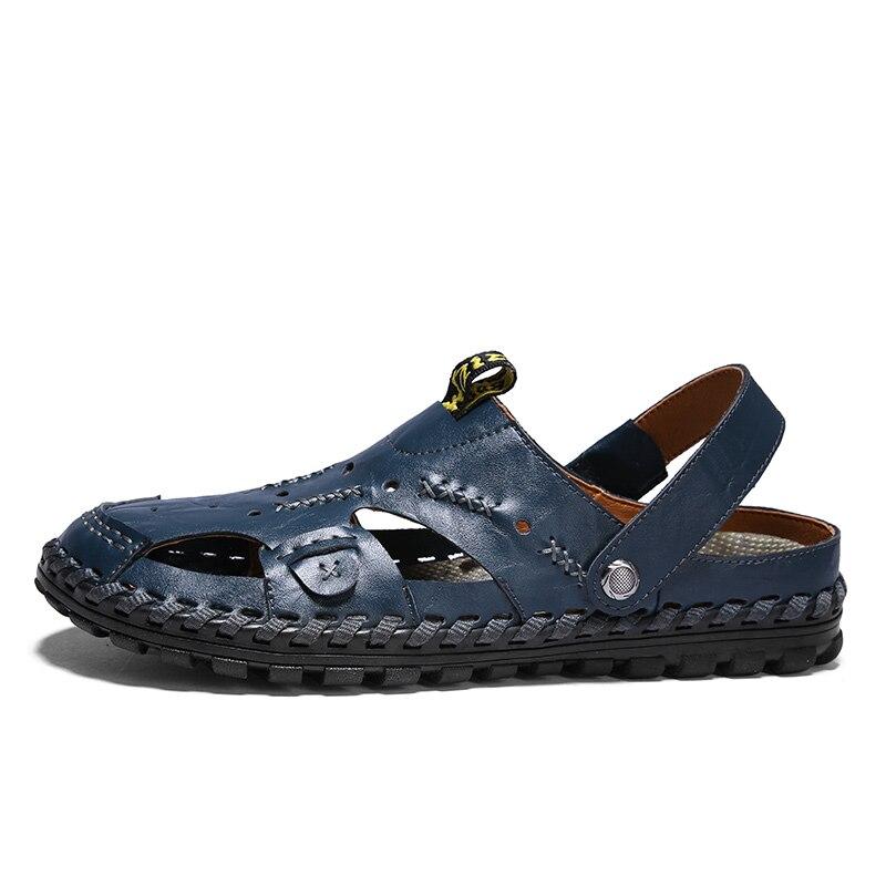 e0031221e7d29 Verão Para 15d50 Homme Couro Sandálias Tenis De Sapatos Adulto Black blue  Respirável Zapatillas Masculino Debardeur ...