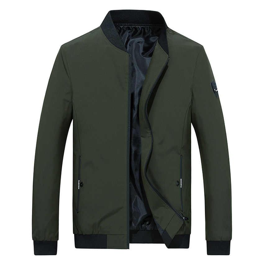 HCXY, брендовый, новинка 2019, осенние мужские тонкие куртки, пальто, мужская приталенная Повседневная модная красивая куртка, верхняя одежда для мужчин, Solir, цвет M-4XL