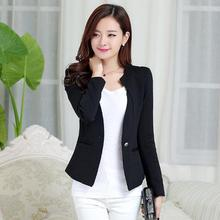 Brief Cutting Single Button Short Career Blazer Women Clothing Outwear Coat 2019 Spring Summer Ladies Office Work Blazers Mujer