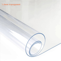1.0 mm Transparent Tablecloth Waterproof Tablew Tablecloth with Pattern Kitchen PVC Table Cover Oil Cloth Soft Glass Tablecloth