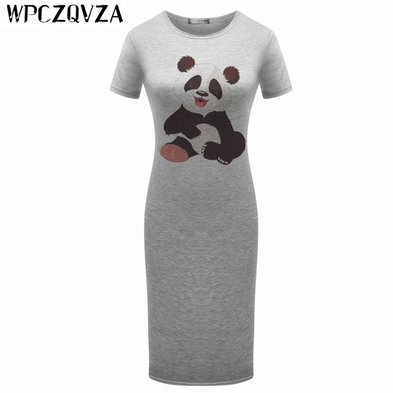 WPCZQVZA 2019 Cartoon Fashion Women  Short Sleeve Dress Summer Lovely Slim Woman Simple Comfortable Hot Selling Dresses vestidos