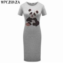 WPCZQVZA 2019 Cartoon Fashion Women  Short Sleeve Dress Summer Lovely Slim Woman Simple Comfortable Hot Selling Dresses vestidos