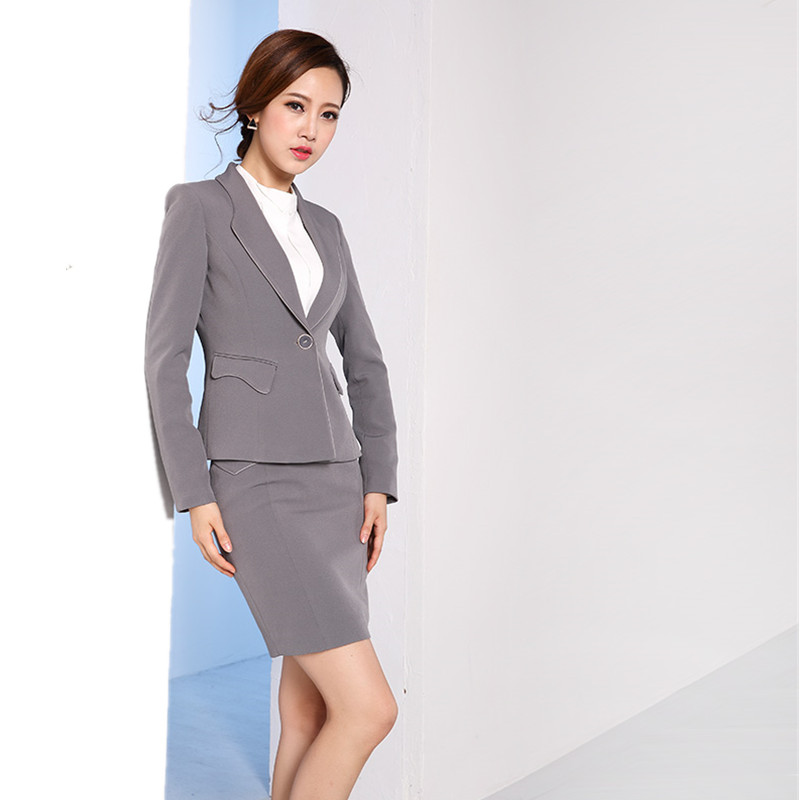Suits & Sets Novelty Blue Slim Fashion Professional Female Uniform Style Business Work Suits With Tops And Pants Ladies Office Trousers Sets To Assure Years Of Trouble-Free Service