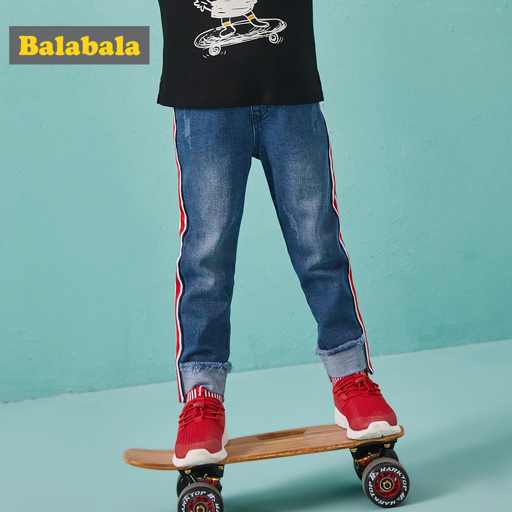 Balabala regular hole jeans pants with cuffs for the boy fashion slim jeans leggings for boys enfant autumn trousers for kidsBalabala regular hole jeans pants with cuffs for the boy fashion slim jeans leggings for boys enfant autumn trousers for kids