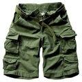 2016 Hombres Pantalones Cortos Masculino Camuflaje Cargo Shorts de Algodón para Hombres Pantalones Cortos Sueltos Hombres Del Ejército Militar Pantalones Cortos Casuales