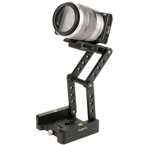 Image 4 - ADAI 360 אלומיניום מתקפל Z להגמיש הטיה פאן ראש חצובה Ballhead שחרור מהיר צלחת מצלמה Stand עבור ניקון Canon DSLRs גולשים