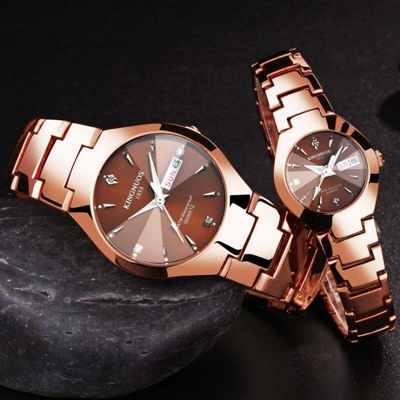 f004a74801e1 Лучший бренд класса люкс кварцевые часы парные Мужские Женские часы женские  наручные часы модные повседневное любителей