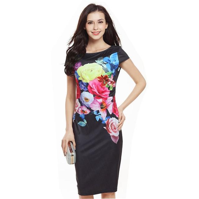 Dresses women 2018 printing elastic package hip pencil Amazon hot sale  western dress dress women s clothing Vestidos HJY749 1ca7a814f9dd