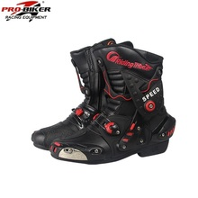 Free delivery 1pair Professional Motorcycle Offroad MX GP Racing Sport Leather Motorcycle Boots Riding Shoes