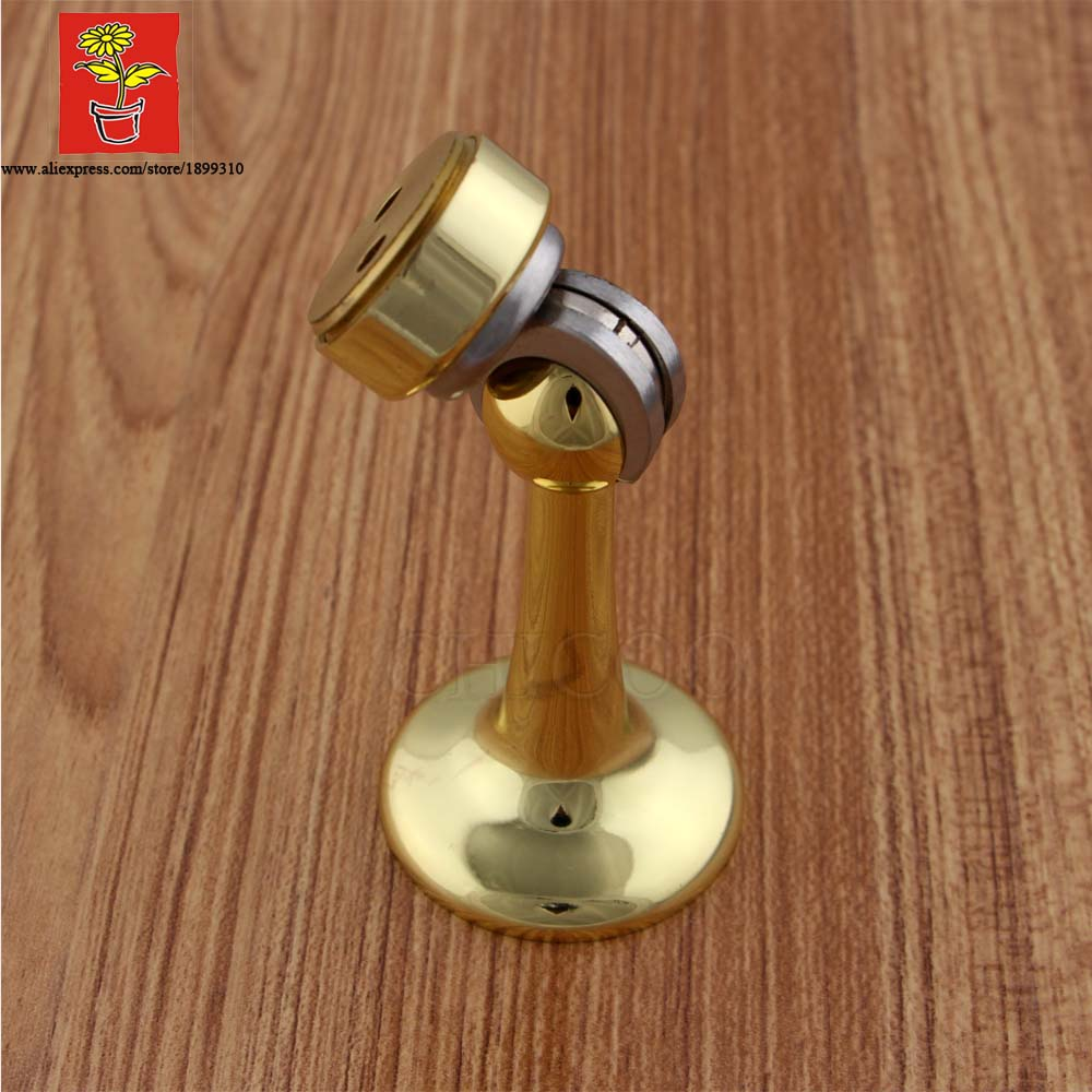 CHICOO Newly Arrived Door Security Protection Gold Color  Magnetic Door Holders Brass Floor And Wall  Mounted door stops free shipping wall mounted brass door stopper suitable for interior doors door holders for sale high suction 356g