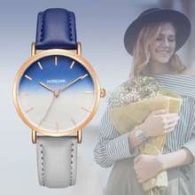2019 Women Watches New Fashion BINZI Brand Rose Gold Leather Ladies Casual Dress Quartz Wristwatch reloj mujer