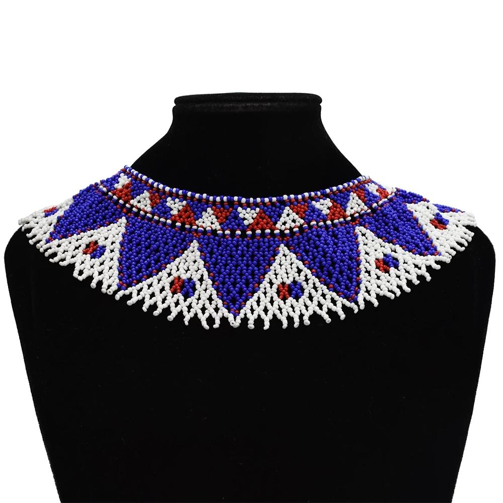 Necklace-Set Jewelry Bead-Tassel Choker Tribal Ethnic-Collar Egyptian India Turk Statement