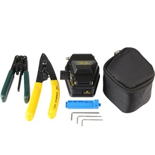 SKL-6C Fiber Optic Cleaver Tool Kit with CFS-2 Stripper and FTTH Cable Stripper