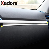 For Kia Rio 4 X line 2018 2019 Interior Moulding Accessories Stainless Steel Middle Dashboard Panel Cover Trim Center Control