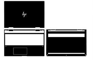 Image 1 - Couvercle autocollant peau vinyle, en fibre de carbone, pour ordinateur portable, 15m, pour nouveau HP ENVY x360, cp0011dx cp0001ng cp0014au cp0598sa CP0599NA cp0013n