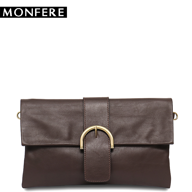 MONFERE Small Women Vintage Bags Genuine Leather Shoulder&Messenger Bag High Quality Buckle Flap Handbag Ladies Purse Clutch Bag high quality vintage ethnic embroidery bag features delicacy small handbag diagonal shoulder women messenger bags bs561