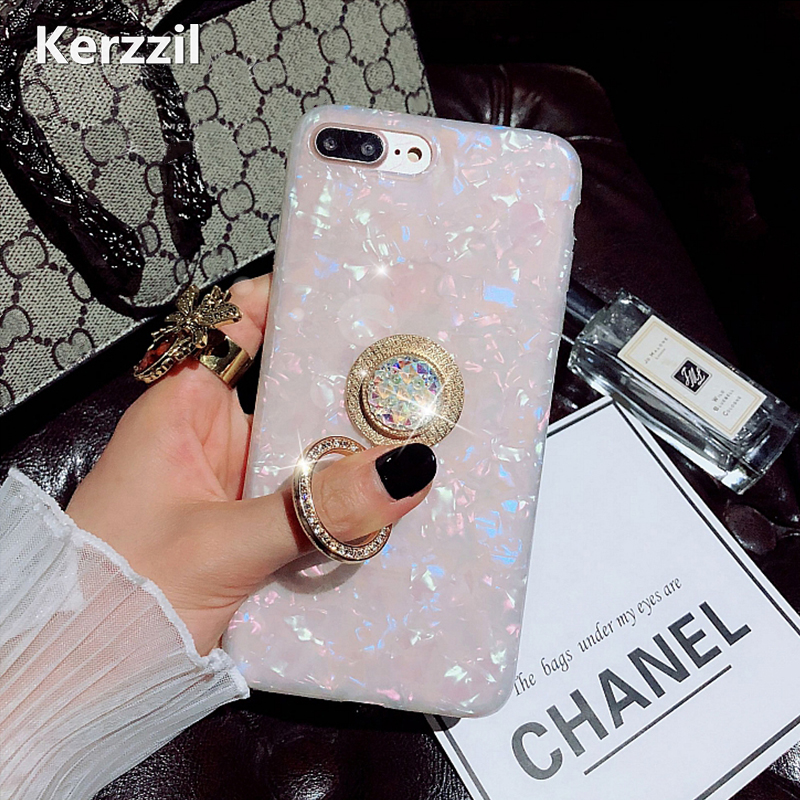 Kerzzil Fashion Dream Bling Diamond Cases For iPhone 7 6 6S 8 Plus Phone  case Kickstand Cover Back For iPhone X 6 7 8 Capa Coque-in Fitted Cases  from ... 5ac4bf1db6c7