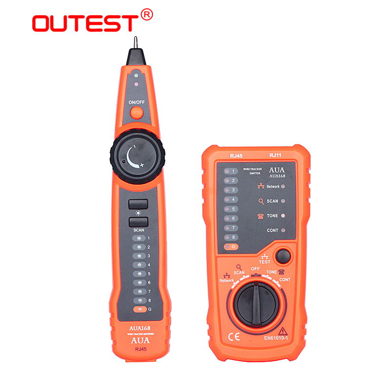 OUTESTnetwork cable tester detector line finder lan cable tester RJ11 RJ45 Cat5e 6 Telephone Wire Tracker Toner