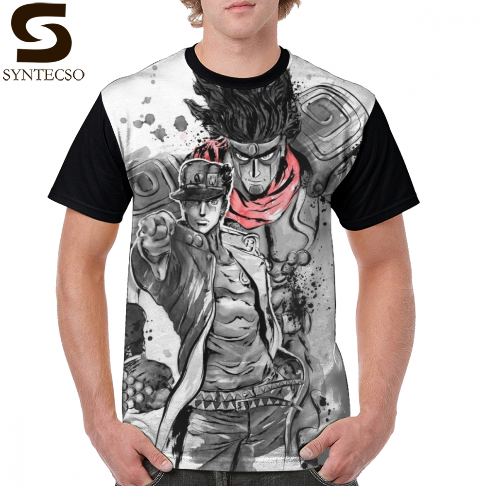 Jojo Bizarre Adventure T Shirt Strength Speed And Precision T-Shirt Mens  Oversize Graphic Tee Shirt 100 Polyester Summer Tshirt