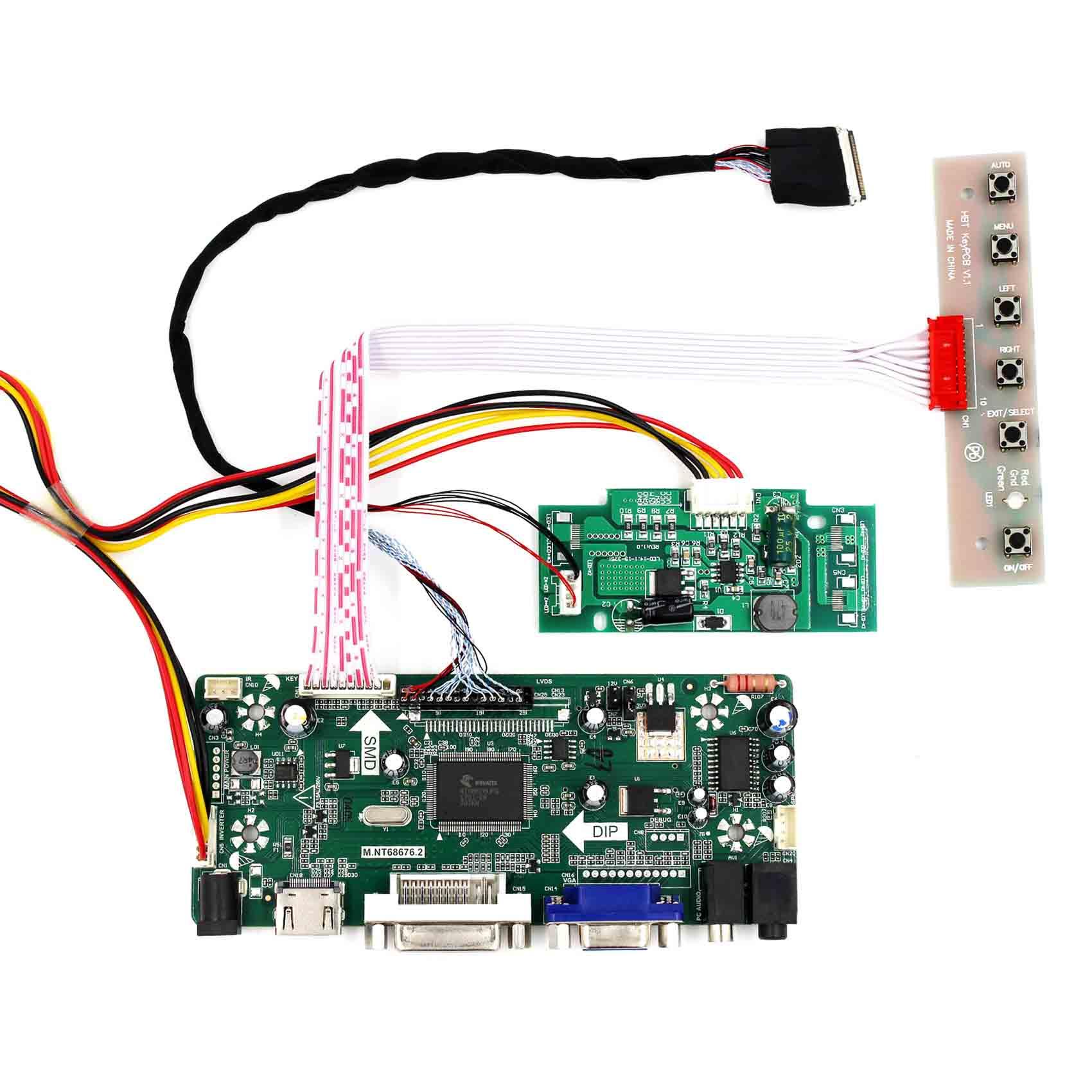 VGA Audio DVI LCD Controller Board lvds Kit For QD15TL03 HDMI