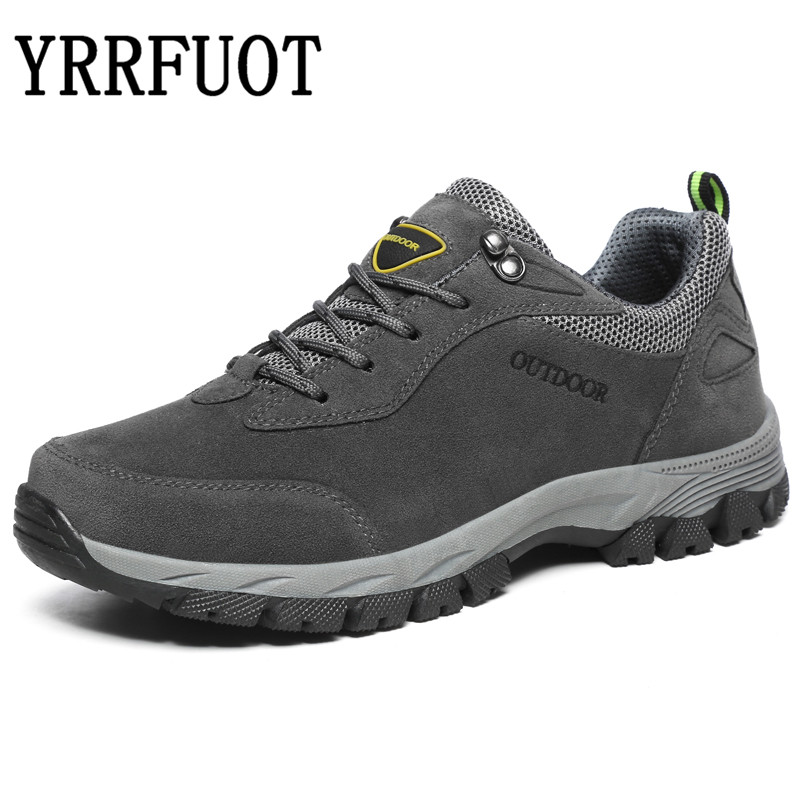 YRRFUOT Men Hiking Shoes 2019 Brand Outdoor Sport Shoe Military Mountain Climbing Men Sneakers Lace Up