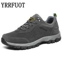 YRRFUOT Men Hiking Shoes 2019 Brand Outdoor Sport Shoe Military Mountain Climbing Men Sneakers Lace Up Waterproof Trekking Shoes