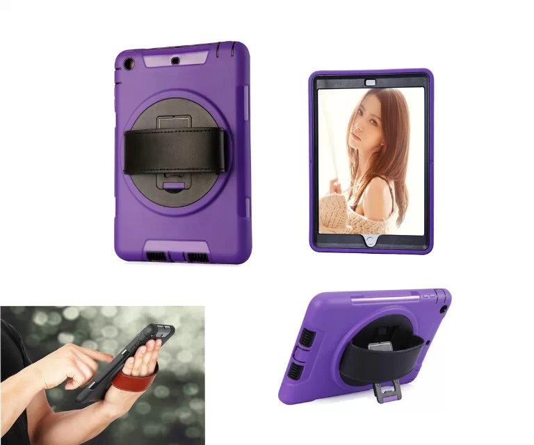Для Apple iPad мини 1 2 3 360 вращающийся Прочный противоударный чехол HD Экран протектор Регулируемая кожа рук ремень