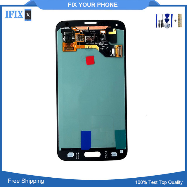 For Samsung S5 LCD Display Touch Screen Digitizer SM-G900M SM-G900F G900A LCD Complete Original OEM  Free Shipping + Tools