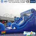Sea Shipping Affordable Inflatable Bounce House Water Slide Pool Tobogan Inflable With Pool